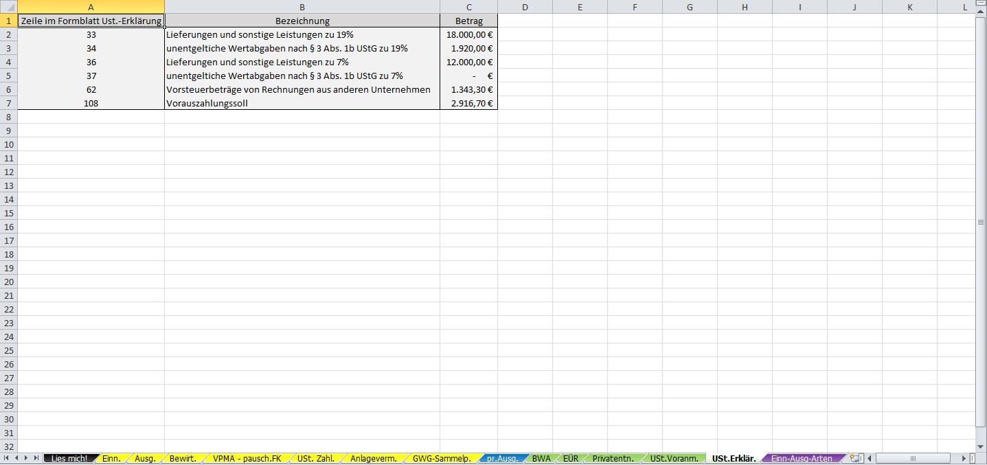 Einnahmen-Ueberschuss-Rechnung-Umsatzsteuererklaerung