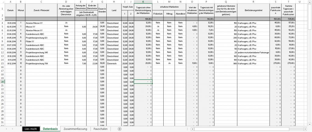 Excel-Vorlage-Verpflegungsmehraufwendungen-Kilometerpauschale-Datenbasis
