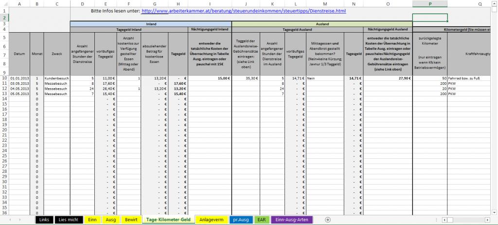 Einnahmen-Ausgaben-Rechnung-Tage-Kilometer-Geld
