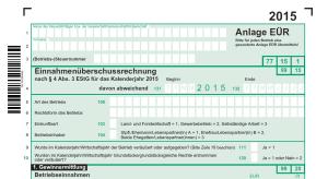 Anlage EÜR 2015