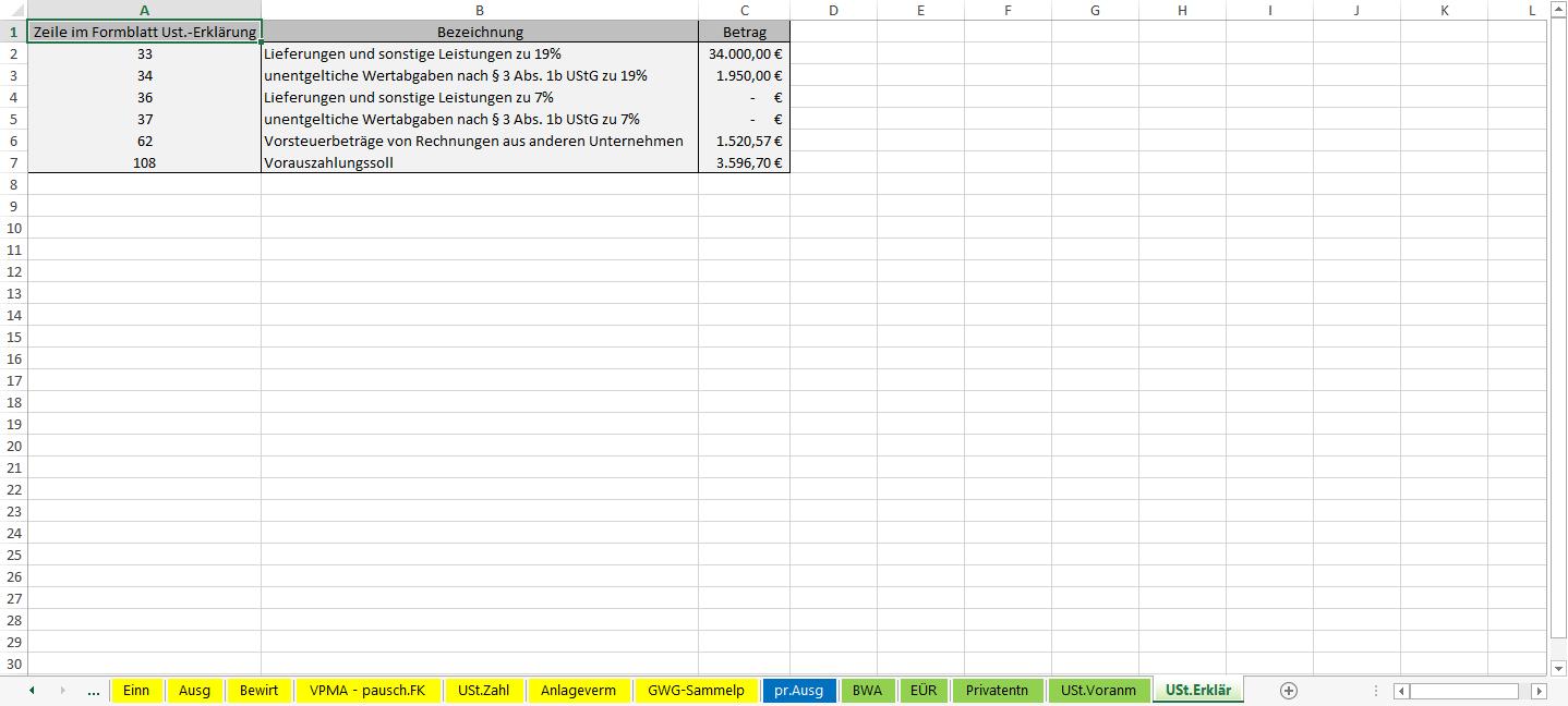 Excel-Vorlage-Einnahmen-Überschuss-Rechnung-2015-USt-Erklaerung