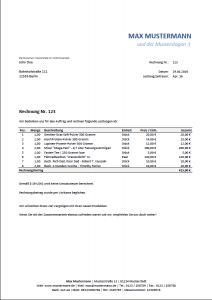 Rechnung-Kleinunternehmer