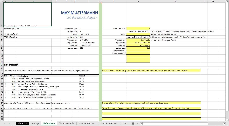 Excel-Vorlage: Automatisierte Angebots- und Rechnungserstellung ...