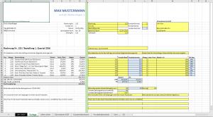 Rechnunsvorlage-Tabelle-Vorlage