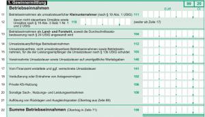 Betriebseinnahmen-Einnahmenueberschussrechnung