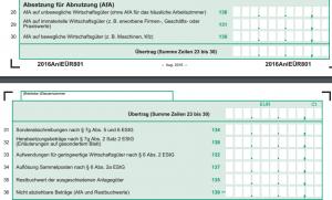 EUeR-Betriebsausgaben-Abschreibung-AfA