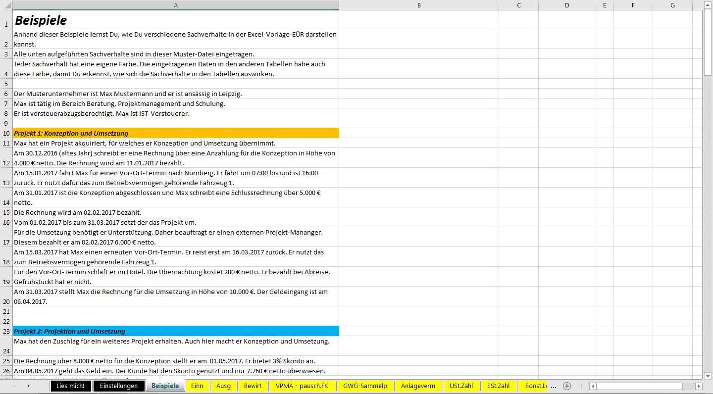 Excel-Vorlage-EÜR 2017 » Pierre Tunger